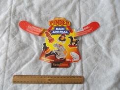 Objet Publicitaire Du Cirque Pinder Maxi Animal Vendôme Oeuf Chocolat Au Lait - Advertising