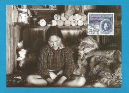 Dänemark / Grönland 1996  Mi.Nr. 293 ,  EUROPA CEPT - Berühmte Frauen - Maximum Card - 5. September 1996 - Maximumkaarten