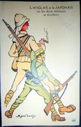 GRANDE GUERRE CARICATURE PROPAGANDE ANTI ALLEMANDE ANGLAIS ET JAPONAIS LES DEUX EXTREMES  MASS'BEUF GUERRE 1914/1918 - Guerre 1914-18