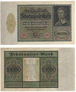 Banknote Reichsbanknote 10000 Mark, 19.Januar 1922. - [ 3] 1918-1933 : Weimar Republic