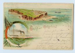 G945/ Gruß Aus Helgoland Litho AK 1900 - Helgoland
