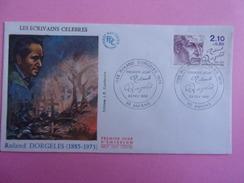 FRANCE FDC 1985 YVERT 2359 ROLAND DORGELES - FDC