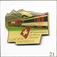 Pin's Transport - Train Suisse / Glacier Express St Moritz / Zermatt. Non Estampillé. Epoxy. T566-21 - Transportation