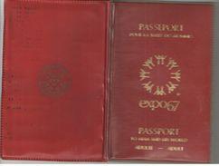 Passeport Pour La Terre Des Hommes/EXPO67/Adulte/Georges Paulin/LAVAL/Expo Universelle De Montréal/CANADA/1967   AEC100 - Tickets - Entradas