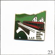 Pin's AAR (Amis Azuréens Du Rail) - Train Des Merveilles Nice-Sospel-Breil Et Tende. Est. Pin's Top. EGF. T566-23 - Transportation