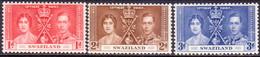 SWAZILAND 1937 SG 25-27 Compl.set MNH Coronation - Swaziland (...-1967)
