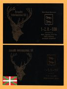 2 Cp - QSL - Zaraobe Internacional DX - Cerf - Bilbao - Spain - Basque Country - Oblit. SANTI BILBAO - 1991 - Carte QSL