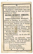 Herent, Betekom: 1852, Joannes-Henricus Adriaens ( 2 Scans) - Andachtsbilder