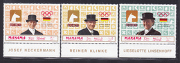 MANAMA AERIENS N°   28 ** MNH Neufs Sans Charnière, 3 Valeur, TB (D4215) Vainqueurs équitation, Jeux Olympiques, Mexico - Manama