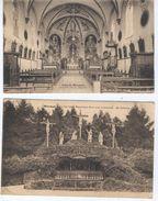 MORESNET - Intérieur De La Chapelle Et Le Calvaire, Magnifique Parc Avec 14 Stations, 12e Tableau, 2 Cpa - Blieberg