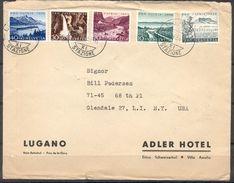 LIQUIDATION TOTALE :1954 - TRES BELLE LETTRE Avec TRES BEL AFFRANCHISSEMENT (SERIE COMPLETE) - Lettres & Documents