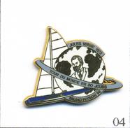 Pin's Sport - Nautisme / Trophée Jules Verne - Bruno Peyron. Estampillé MBM. Zamac. T567-04 - Boats