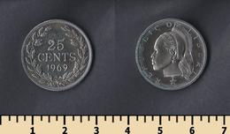 Liberia 25 Cents 1969 - Liberia