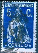 PORTOGALLO, PORTUGAL, CERES, 1912, FRANCOBOLLI USATI, 5 C, Michel 210Ax,  YT 212(B)   Scott 223, Afi 212 - 1910 - ... Repubblica