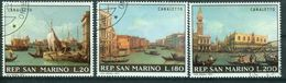 BM San Marino 1971 | MiNr 972-974 | Used | Gemälde Von Antonio Canal ( Canaletto) - San Marino