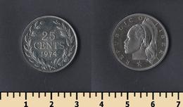 Liberia 25 Cents 1974 - Liberia
