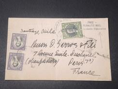 CHILI - Enveloppe De L 'Ambassade Des Etats Unis Pour Paris En 1937 , Voir Cachets - L 11482 - Chile