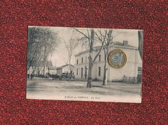 84 CARTE RARE INEDITE  1915  ISLE SUR LA SORGUE LA GARE - L'Isle Sur Sorgue