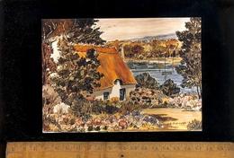 PONT AVEN Finistère 29 : Chaumière Bretonne à Pont Aven D'après Peinture Du Peintre Y.A. PLEUVEN - Pont Aven