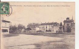CPA -    LIBOURNE (Gironde) - Place Decazes, Et Allée De De La République - Libourne