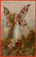"""CPA AK Fantaisie PATRIOTIQUE """"Salut à La Victoire, Au Brillant Papillon..."""" (Femme Avec Ailes De...) Surréalisme 1917 - Weltkrieg 1914-18"""