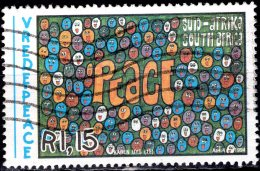 SOUTH AFRICA 1994 Peace Campaign. Children's Paintings -  1r.15 - Multi-racial Crowd (Karen Uys) FU - Used Stamps