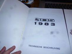 Peugeot 305 1983 Présentation Particularités Techniques Etc ( Néerlandais) 68p - Sachbücher