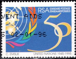 SOUTH AFRICA 1995 50th Annivs Of United Nations And UNESCO - (60c) 50 And U.N. Emblem FU - Used Stamps