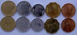 TANZANIA SERIE 5 MONETE 50-20-10-5 SENTI  1 SCELLINO FDC UNC - Tanzania