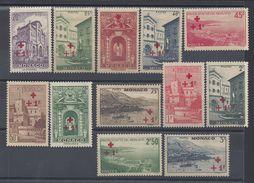 MONACO - 1940 - N° 200 à 211 - Neufs X Avec Charnières Traces (3 Timbres Sont XX) B/TB - Cote 110 € - Monaco