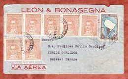 Vorderseite, Luftpost, MiF Mariano Moreno U.a., Buenos Aires Nach Zuerich 1937 (45134) - Argentinien