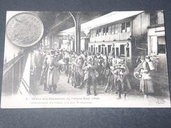 FRANCE - Carte Postale De La Grève Des Cheminots En 1910 , Débarquement Des Troupes à Montparnasse -  L 11495 - Huelga