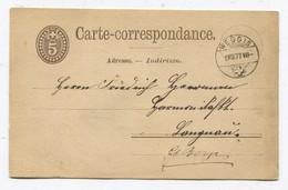 Schweiz GS 5Rp WEGGIS 09-08-1877 Nach Langau Reiden Mit Zwergstempel Als Ankunft - Stamped Stationery