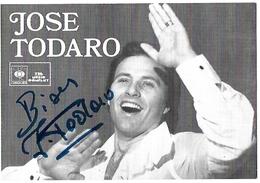 José TODARO  -  Opérette - Autographes