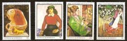 Antigua & Barbuda 1987 Yvertn° 967-970 *** MNH Cote 5,25 Euro Marc Chagall - Antigua Et Barbuda (1981-...)