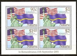 Nauru 2002 Yvertn° 489-492 *** MNH Cote 12,50 Euro In Remembrance 11th September 2001 - Nauru