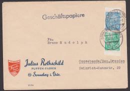 Fünfjahrplan-Zdr. Aus MH Portogenau Geschäftspapiere 1956, Randstücke Aus Sonneberg Puppen-Fabrik Roschi-Puppe - Zusammendrucke