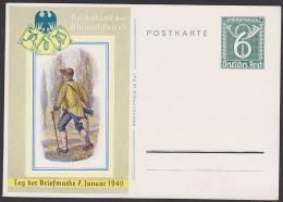 Bild-Postkarte 6 Pf Reichsbund 1940 P289 Ungebraucht - Duitsland