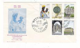 """LUXEMBOURG / MILLENAIRE DE LA VILLE DE LUXEMBOURG / """" MELUSINA """" , 13 - 21 Avril 1963 ( Vierge Noire ) - FDC"""
