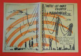 1960 RARE Brochure Toutes Les Ondes Courtes à Madagascar Radio TSF émettant En OC & OM Publicités - Literature & Schemes