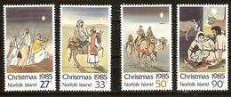 Norfolk 1985 Yvertn° 368-371 *** MNH Cote 5,50 Euro Noël Kerstmis Christmas - Ile Norfolk