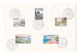 MONACO / CENTENAIRE DE MONTE-CARLO  ( 5 Timbres Sur Grande Enveloppe ) /  Date  :  1-6-1966 - FDC