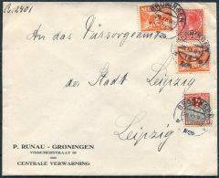 1926 Netherlands Groningen Cover - Leipzig Germany - Period 1891-1948 (Wilhelmina)