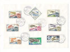 MONACO / 1er RALLYE AERIEN  ( 9 Timbres Sur Grande Enveloppe : BIPLAN FARMAN + BREGUET .....) /  Date  :  22-5-1964 - FDC