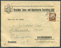 1940 Germany Austria Dornbirn NS Gymnastics Club Cover - Deutschland