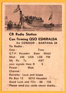 QSL - Con Firming QSO Esmiralda - Flying Dutchman - Super Flake - Esmiralda - Condor - Santana - Heusden - Radio