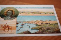 CPA Chromo Carte Tisane Cisbzy Laxatif  Bon Point Colonies Françaises  Cote Des Somalis  Obock - Cartes Géographiques