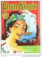 Etiquette Rhum Negrio    Distillerie Du Nord. Cambrai - Rhum