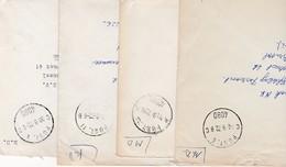 5 Brieven Met BSD  -  BPA Poststempels. 1 Brief Aangetekend. Zie Afbeeldingen. - Postmark Collection