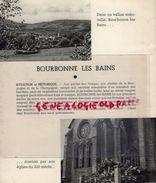 52-BOURBONNE LES BAINS- RARE DEPLIANT TOURISTIQUE - ANNEES 1950 - Dépliants Touristiques